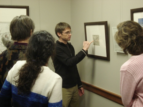 BWAMM curator, Chris Case, giving the staff a tour