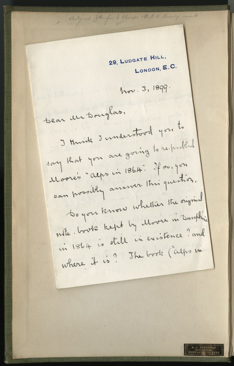 letter to daughter from the archives finding whymper in a book high places 23192